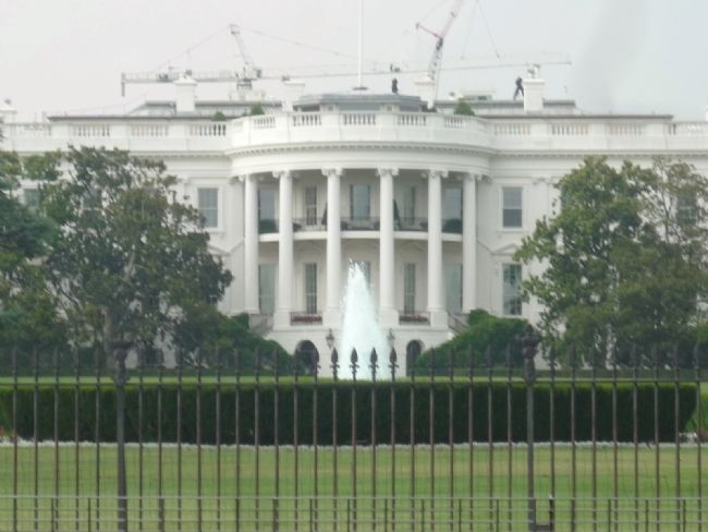 The White House - viewed from the Zero Milestone monument across E Street image. Click for full size.