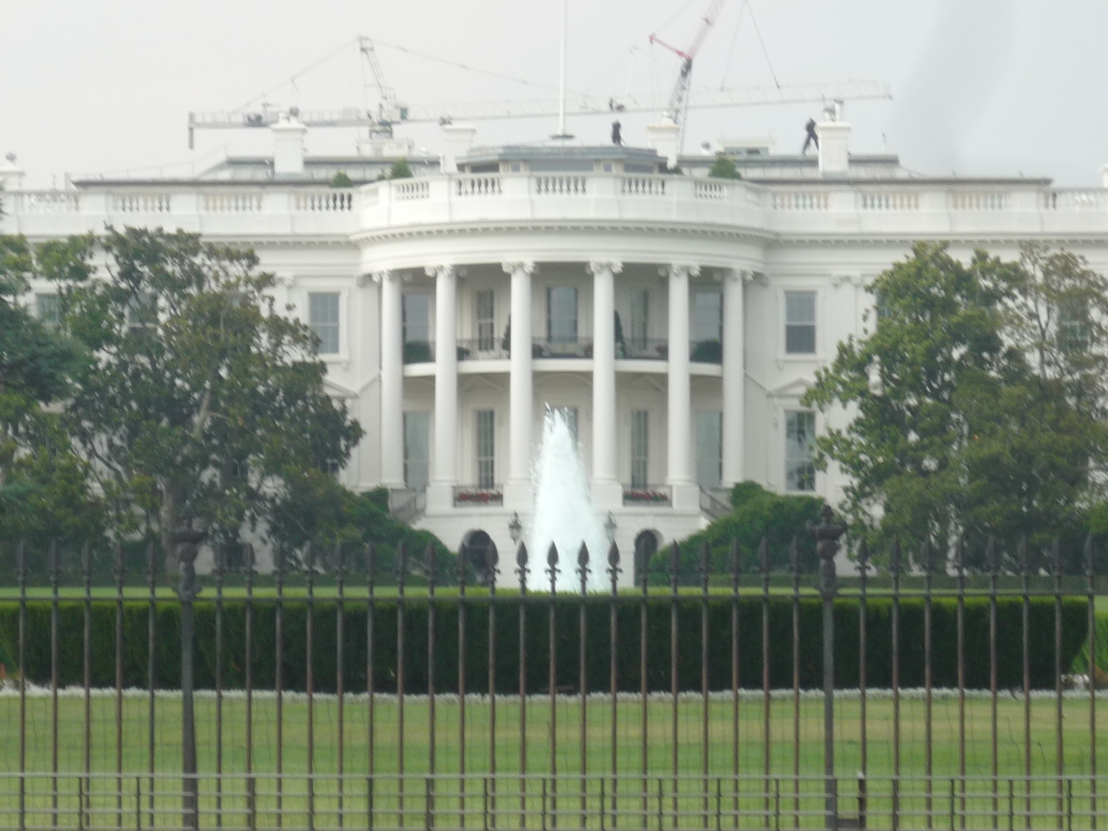 The White House - viewed from the Zero Milestone monument across E Street