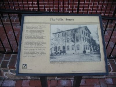 The Wills House Marker image. Click for full size.