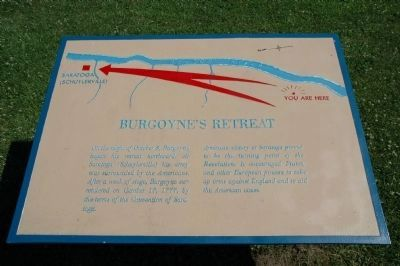 Burgoyne's Retreat Marker image. Click for full size.