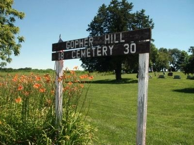 Gopher Hill Cemetery (Established 1830) - Sign image. Click for full size.