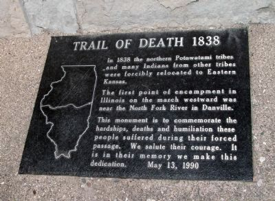 Trail of Death 1838 Marker image. Click for full size.