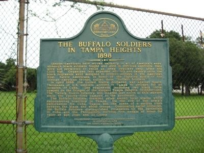 The Buffalo Soldiers in Tampa Heights Marker image. Click for full size.
