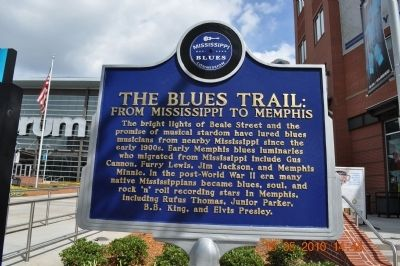 The Blues Trail From Mississippi to Memphis Marker image. Click for full size.