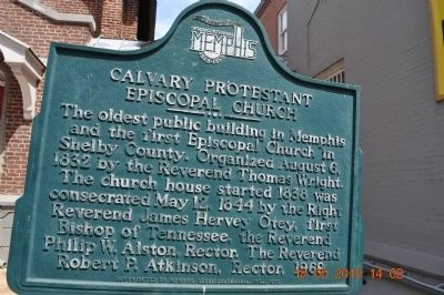 Calvary Protestant Episcopal Church Marker image. Click for full size.