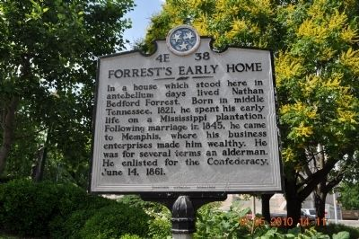 Forrest's Early Home Marker image. Click for full size.