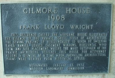 Gilmore House Marker image. Click for full size.