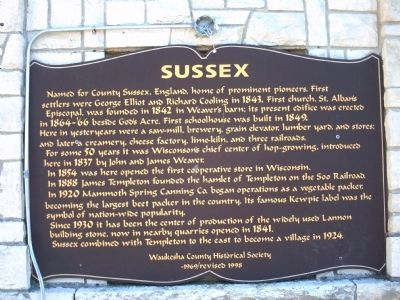 Sussex Marker image. Click for full size.
