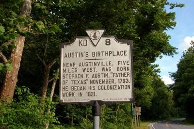 Austin's Birthplace Marker image. Click for full size.