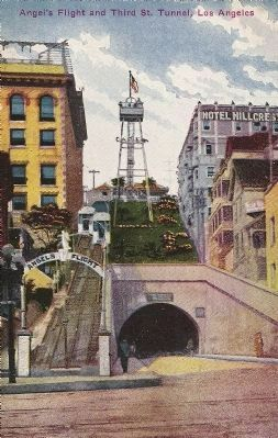 My Grandfather's Post Card of Angel's Flight from the early 1920's image. Click for full size.