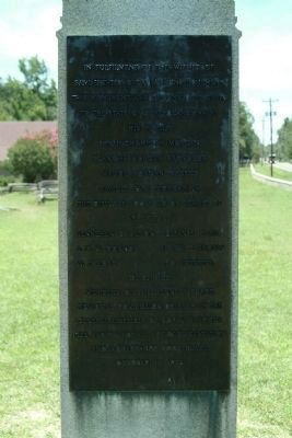 The Back Side of the Bennett Place Marker image. Click for full size.