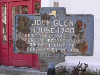 John Glen House 1740 Marker image. Click for full size.