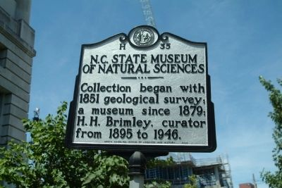 N.C. State Museum of Natural Sciences Marker image. Click for full size.
