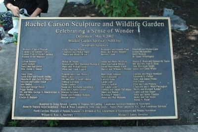 Rachel Carson Sculpture and Wildlife Garden Marker image. Click for full size.