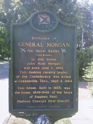 Birthplace of General John Hunt Morgan Marker image. Click for full size.