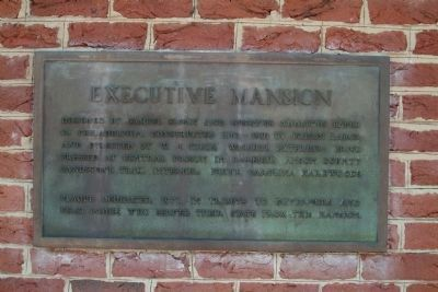 Executive Mansion - this marker is to the right of the main gate image. Click for full size.