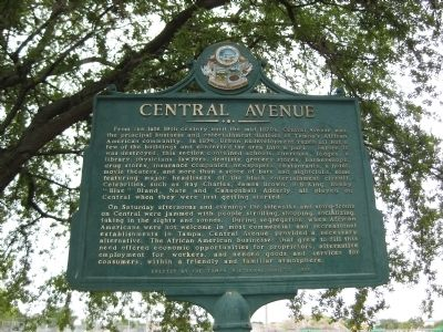 Central Avenue Marker image. Click for full size.