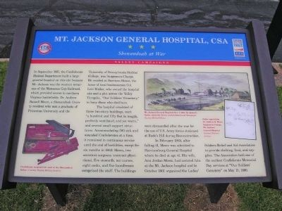 Mount Jackson General Hospital CSA Marker image. Click for full size.