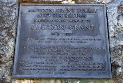 Madison Grant Forest and Elk Refuge Marker image. Click for full size.