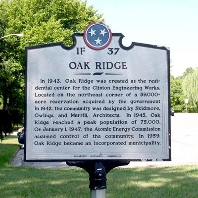 Oak Ridge Marker image. Click for full size.