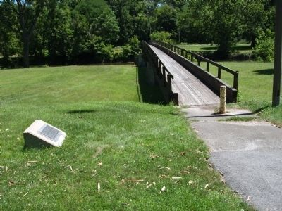 Robert E. Wurtsbaugh Marker - and - Foot Bridge image. Click for full size.