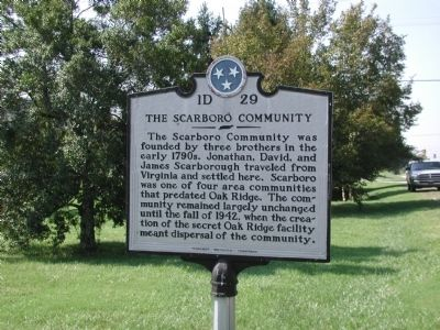 The Scarboro Community Marker image. Click for full size.