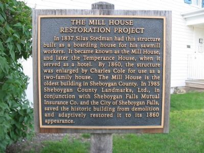 The Mill House Restoration Project Marker image. Click for full size.