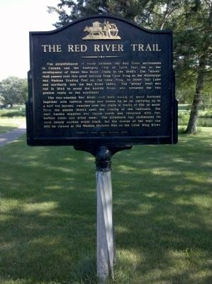 The Red River Trail Marker image. Click for full size.
