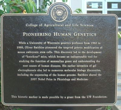 Pioneering Human Genetics Marker image. Click for full size.
