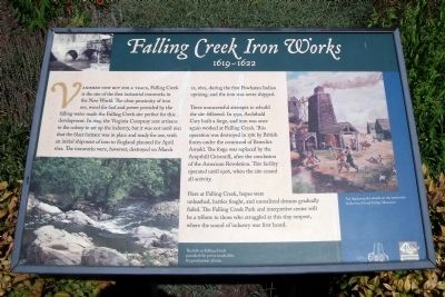 Falling Creek Iron Works Marker image. Click for full size.