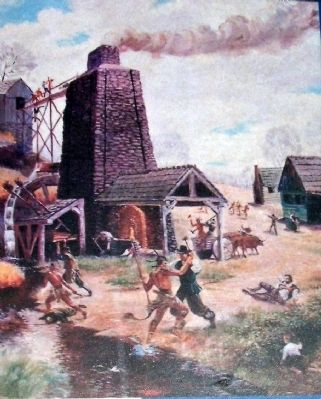 Good Friday Massacre at Falling Creek Iron Works in 1622. image. Click for full size.