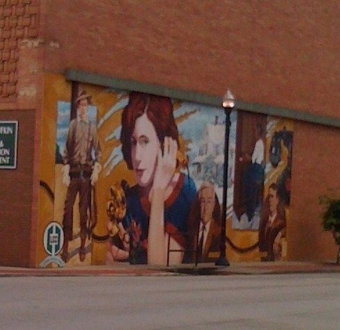 Lufkin Telephone Exchange Mural image. Click for full size.