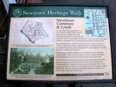 Newtown Common & Creek Marker image. Click for full size.