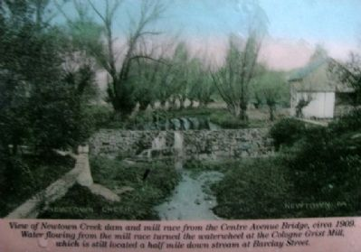 Photo on Newtown Common & Creek Marker image. Click for full size.