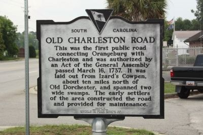 Old Charleston Road Marker image. Click for full size.