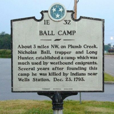 Ball Camp Marker image. Click for full size.