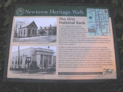 The First National Bank Marker image. Click for full size.