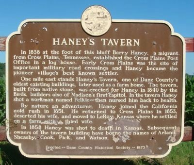 Haney's Tavern Marker image. Click for full size.