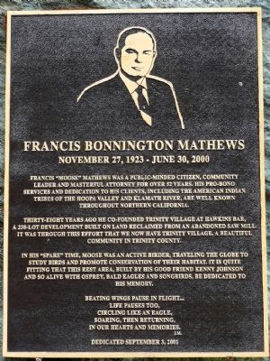 Francis Bonnington Mathews Marker image. Click for full size.