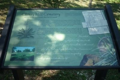 Cherry Hill Cemetery Marker image. Click for full size.