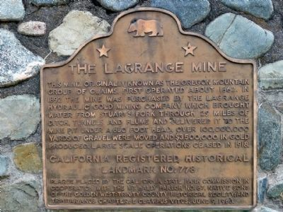 The Lagrange Mine Marker image. Click for full size.