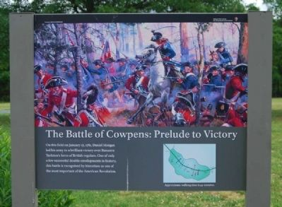 The Battle of Cowpens: Prelude to Victory Marker image. Click for full size.