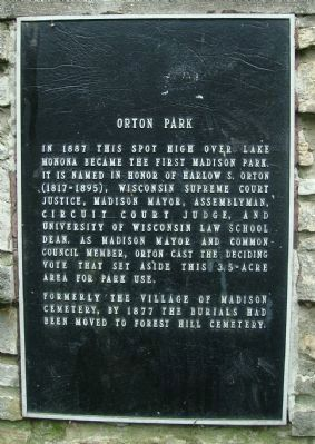 Orton Park Marker image. Click for full size.