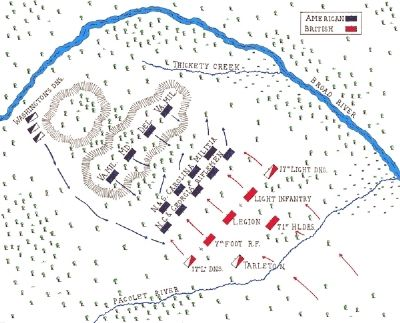Battle of Cowpens Map image. Click for full size.