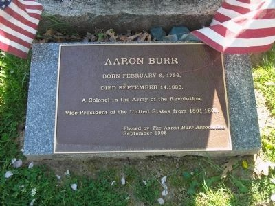 Aaron Burr Marker image. Click for full size.