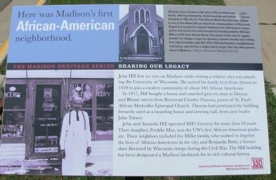 Here was Madison's first African-American neighborhood Marker image. Click for full size.