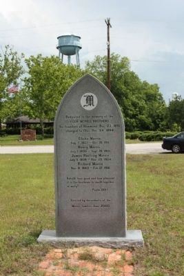 Olar S.C. Marker, backside . Low Country Road / 3rd Street (State Road 64) in background image. Click for full size.
