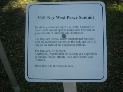 2001 Key West Peace Summit image. Click for full size.
