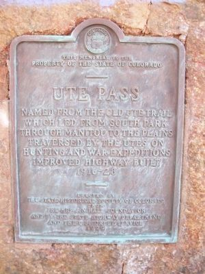 Ute Pass Marker image. Click for full size.
