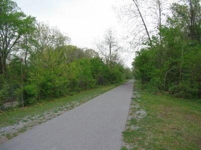 Rail Trail Running West from the Marker Location image. Click for full size.